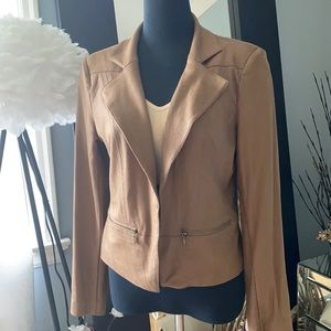 Lightweight faux suede jacket
